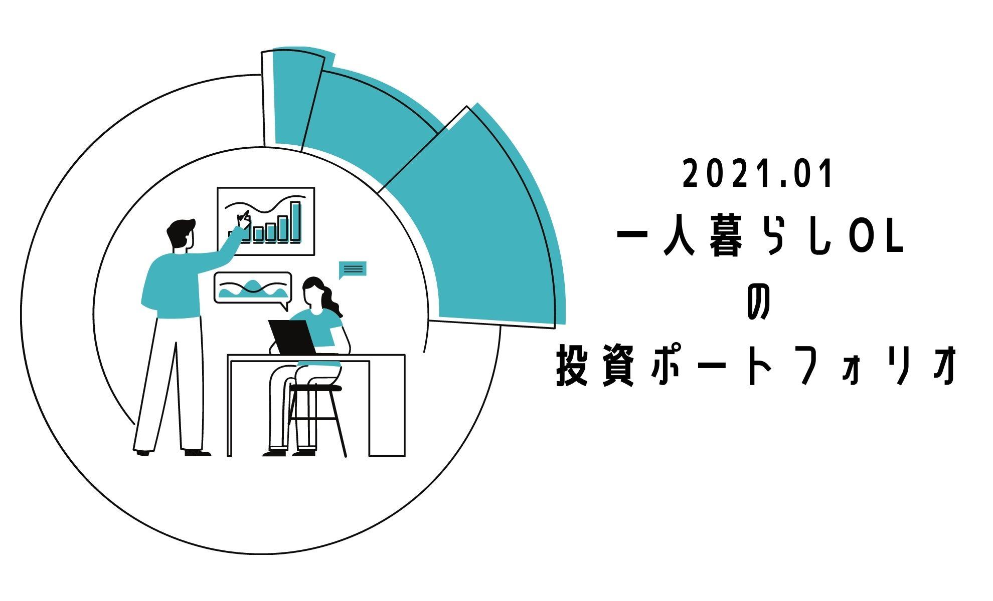 一人暮らしOL の 投資ポートフォリオ202101